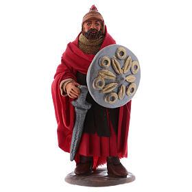 Neapolitan Nativity Scene: Soldier with sword 12 cm for Neapolitan nativity scene
