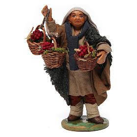 Belén napolitano: Hombre con cestos de uva 12 cm belén napolitano