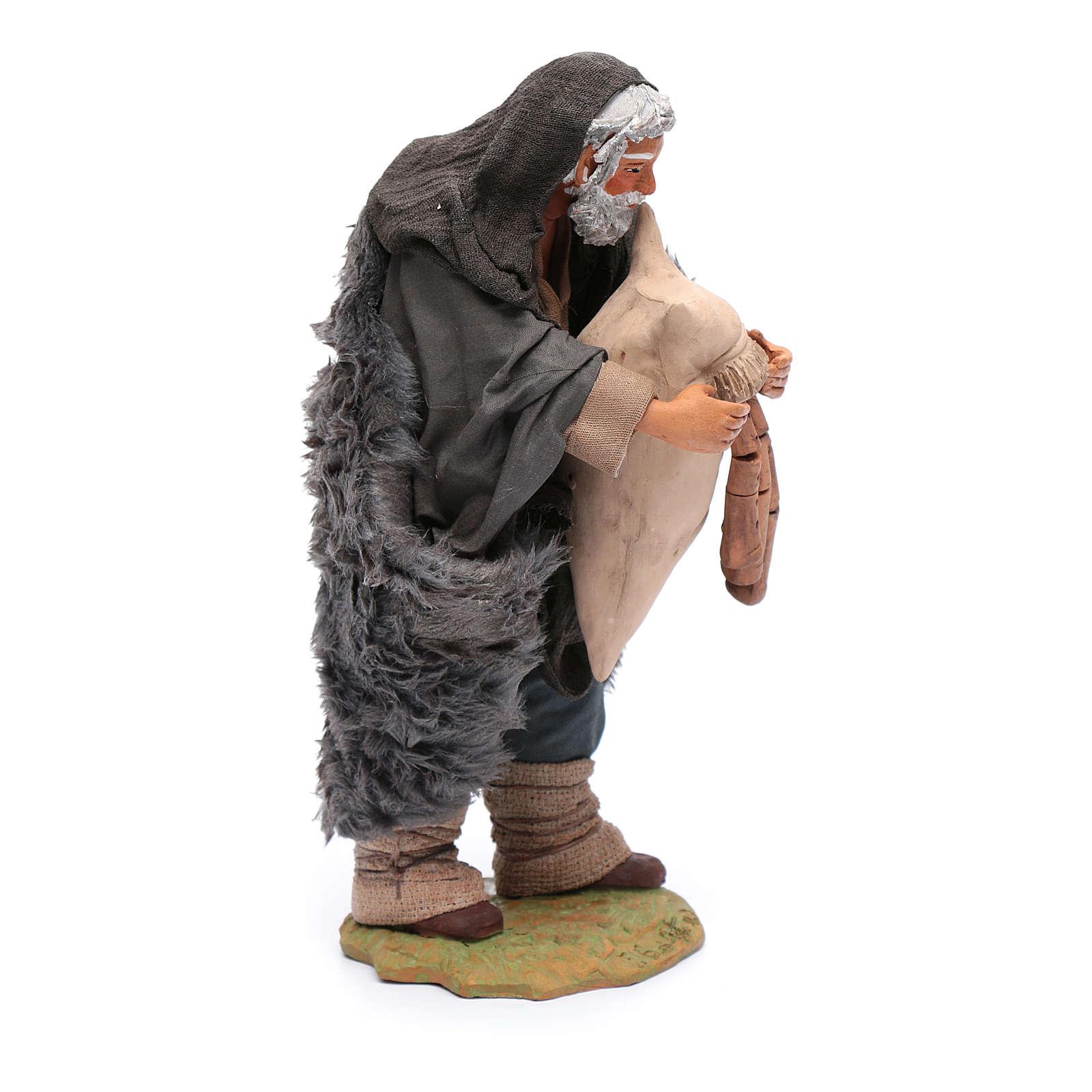 Statuina di zampognaro, 24 cm presepe napoletano 4