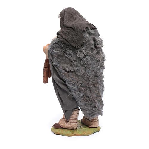 Statuina di zampognaro, 24 cm presepe napoletano 3