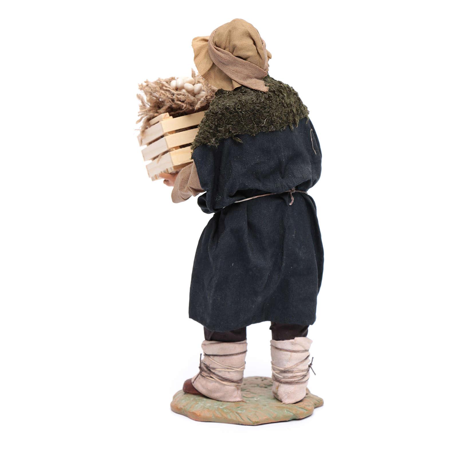 Uomo con cassetta in mano 24 cm presepi napoletani 4