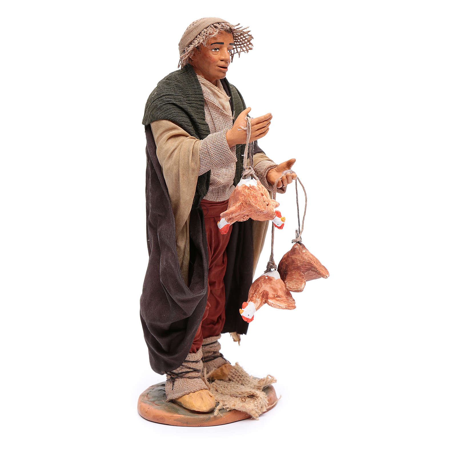 Man with hanging hens 30 cm for Neapolitan nativity scene 4