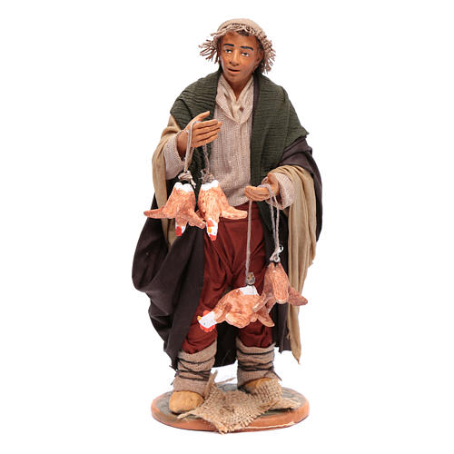 Man with hanging hens 30 cm for Neapolitan nativity scene 1