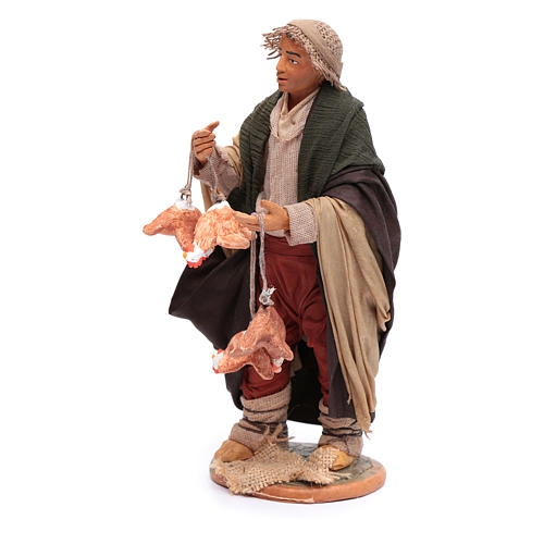 Man with hanging hens 30 cm for Neapolitan nativity scene 2
