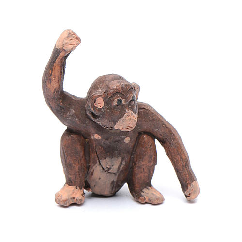 Miniature monkey 3 cm for Neapolitan nativity scene 1