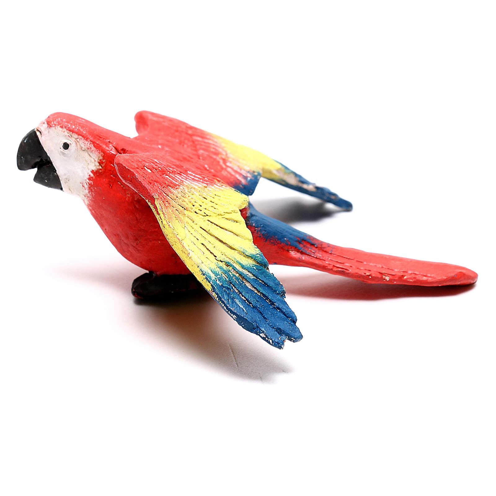 Loro alas abiertas belén napolitano 4