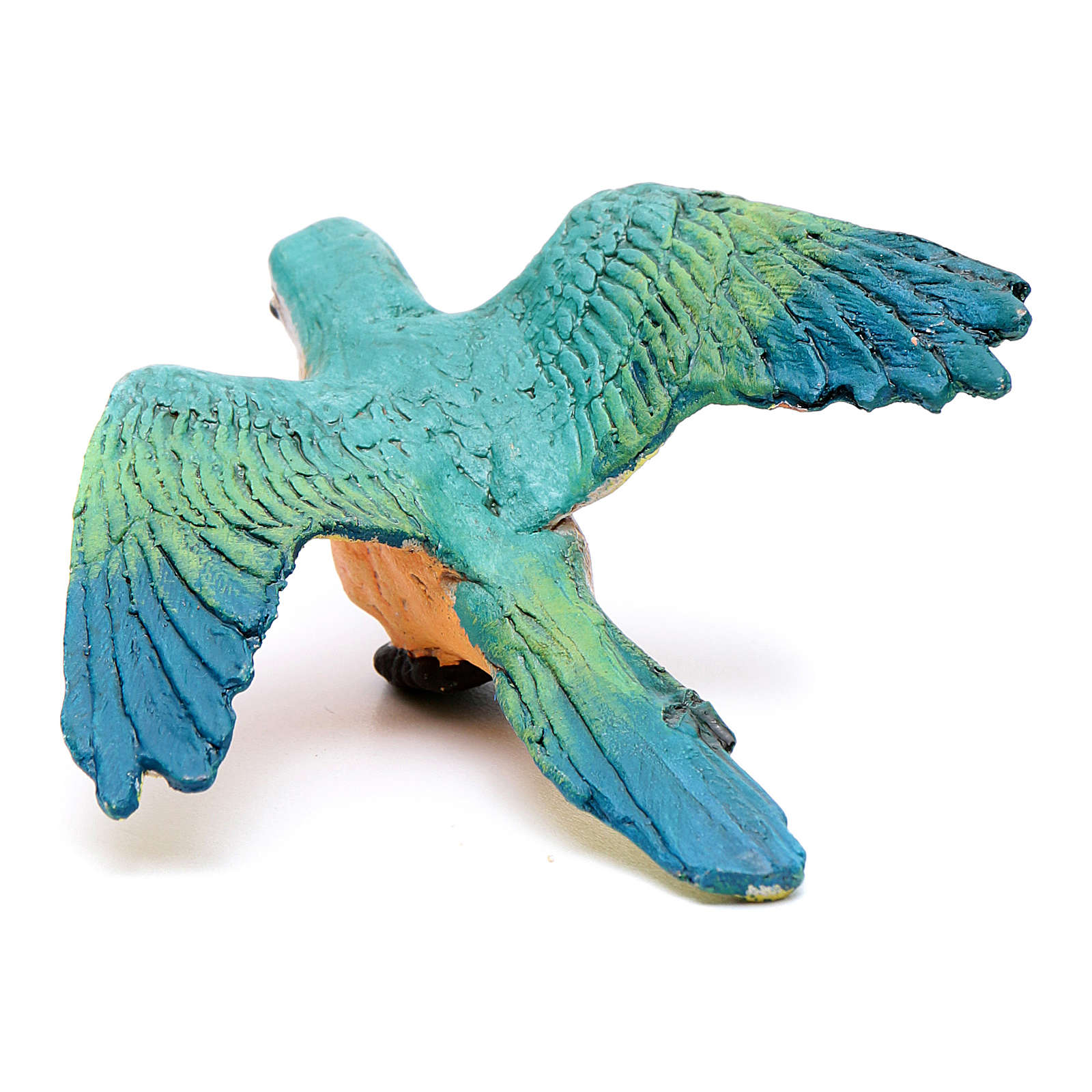 Parrot with open wings for Neapolitan nativity scene 4