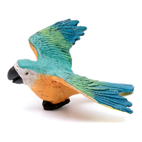 Parrot with open wings for Neapolitan nativity scene 1