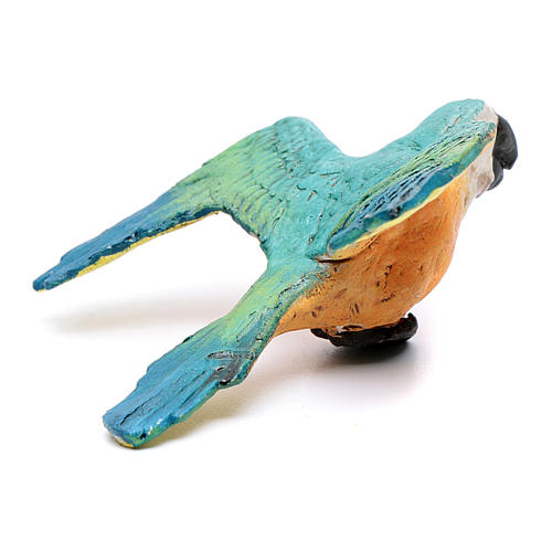 Parrot with open wings for Neapolitan nativity scene 3