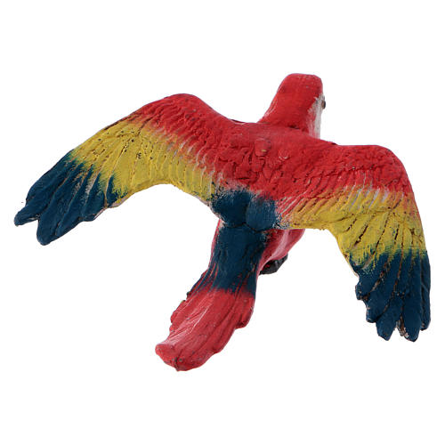 Parrot with open wings for Neapolitan nativity scene 6
