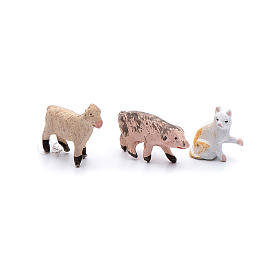 Kit animaletti 9 pezzi presepe fai da te 4 cm s3