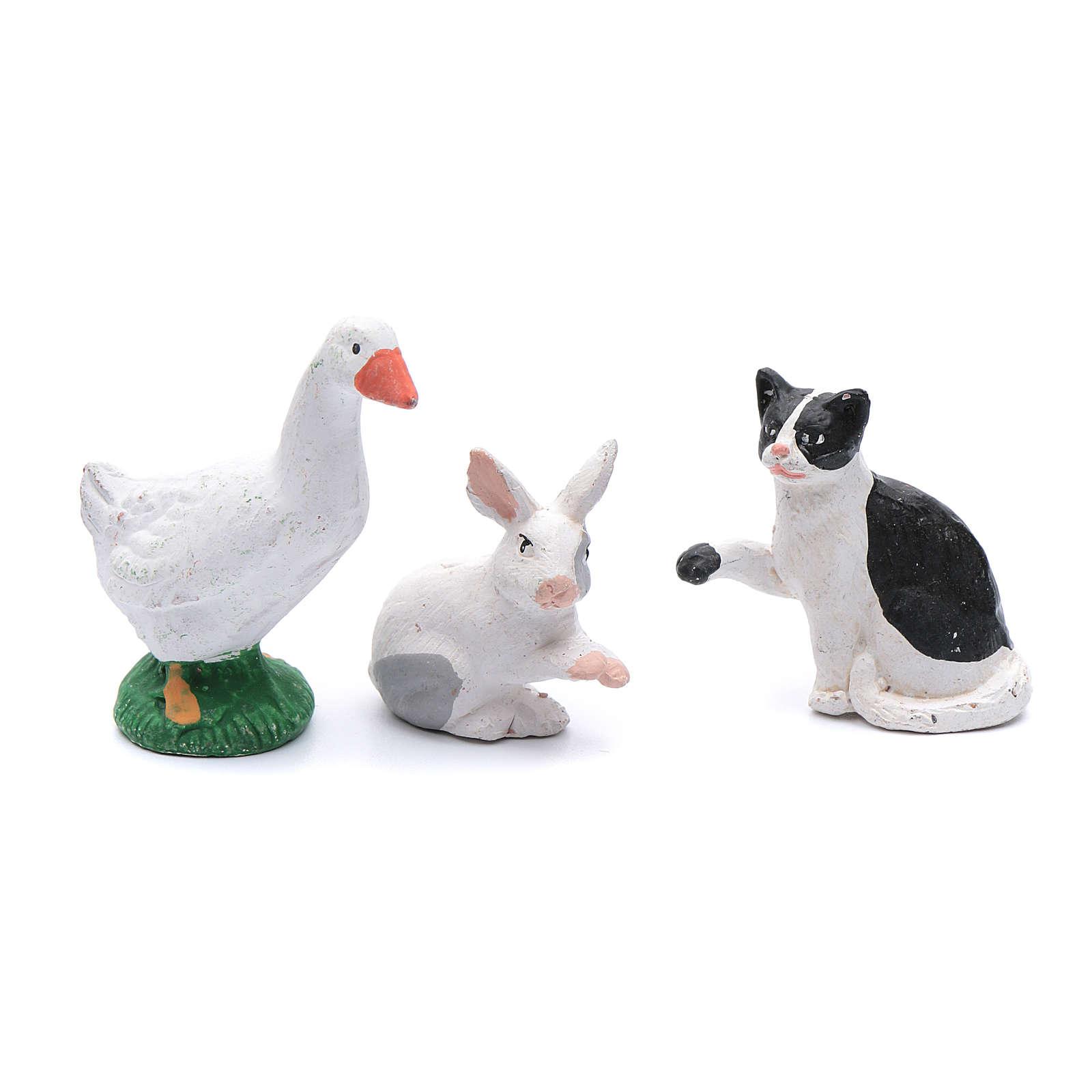 Kit mascotas 5 piezas belén bricolaje 12 cm 4