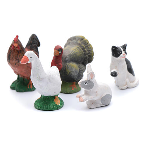 Kit with 5 animal items for DIY nativity scene 12 cm 1