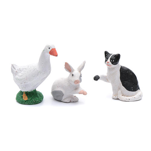 Kit with 5 animal items for DIY nativity scene 12 cm 2