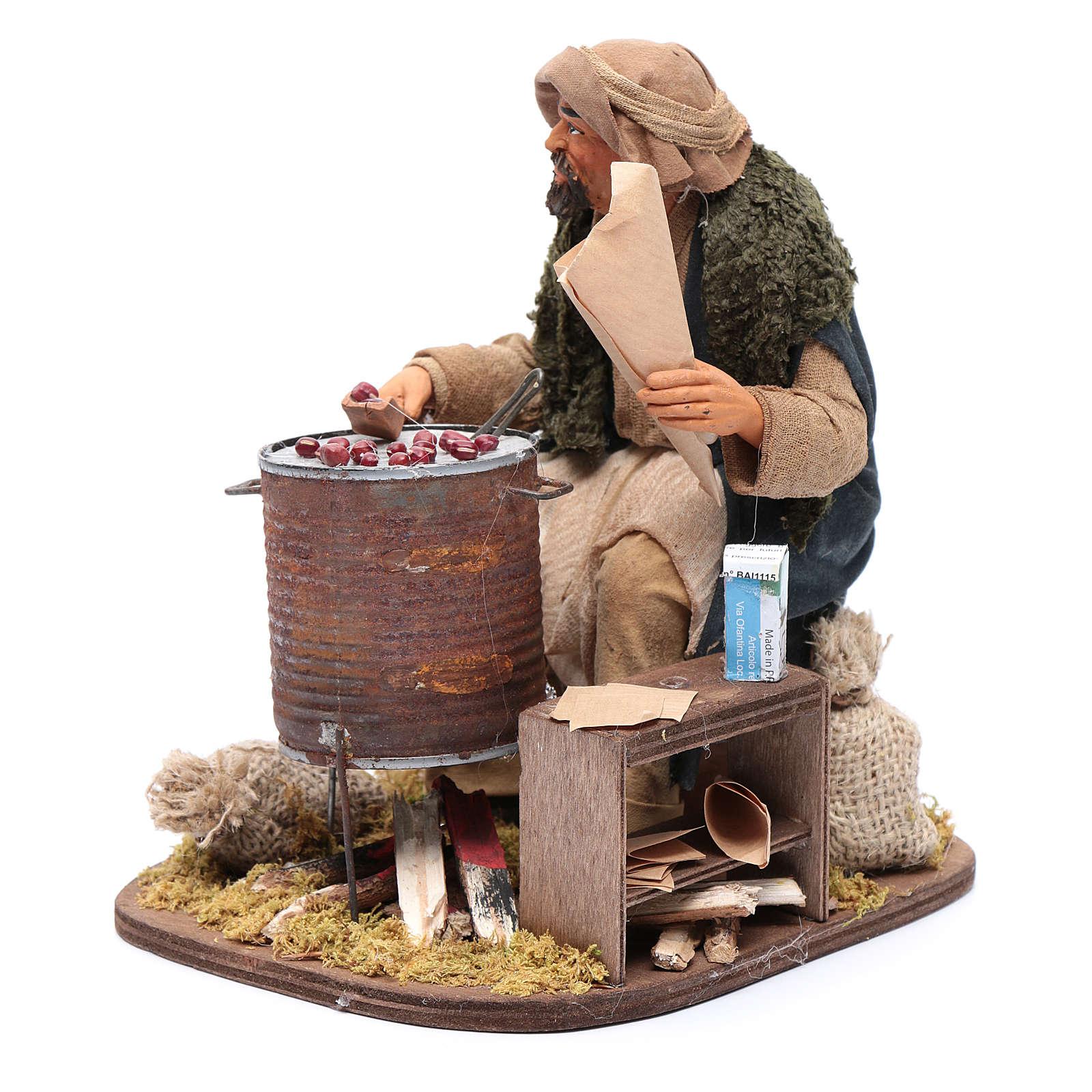Chestnut seller 30 cm for Neapolitan nativity scene 4