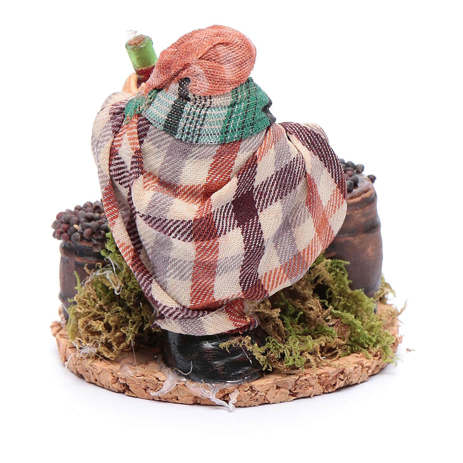 Wine merchant 8 cm for Neapolitan nativity scene 4