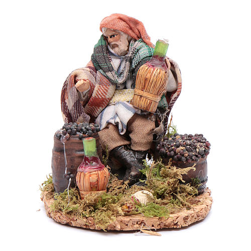 Wine merchant 8 cm for Neapolitan nativity scene 1