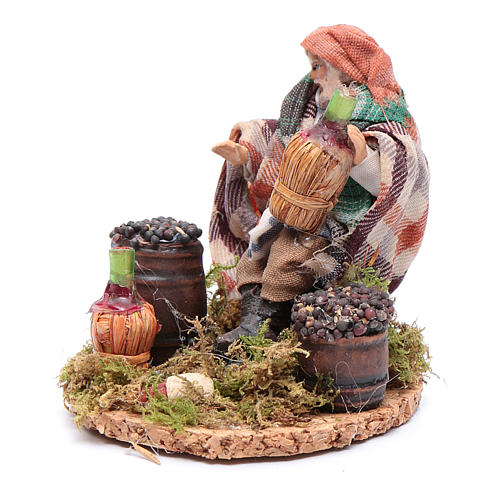 Wine merchant 8 cm for Neapolitan nativity scene 2