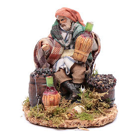 Neapolitan Nativity Scene: Wine merchant 8 cm for Neapolitan nativity scene