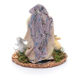 Statuina donna con conigli presepe napoletano 8 cm s3