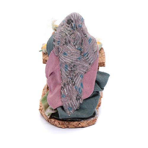 Donna con pannocchie statuina presepe napoletano 8 cm 3