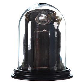 Scena con cupola di vetro natività stile arabo presepe napoletano s3