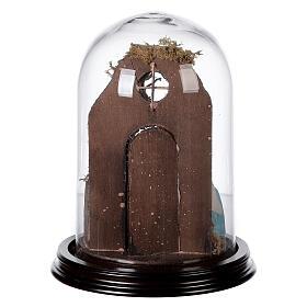 Cloche en verre avec scène nativité crèche napolitaine s5