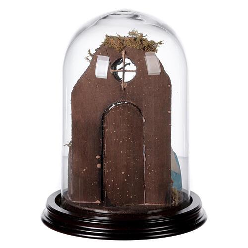 Campana di vetro con scena natività presepe napoletano 5