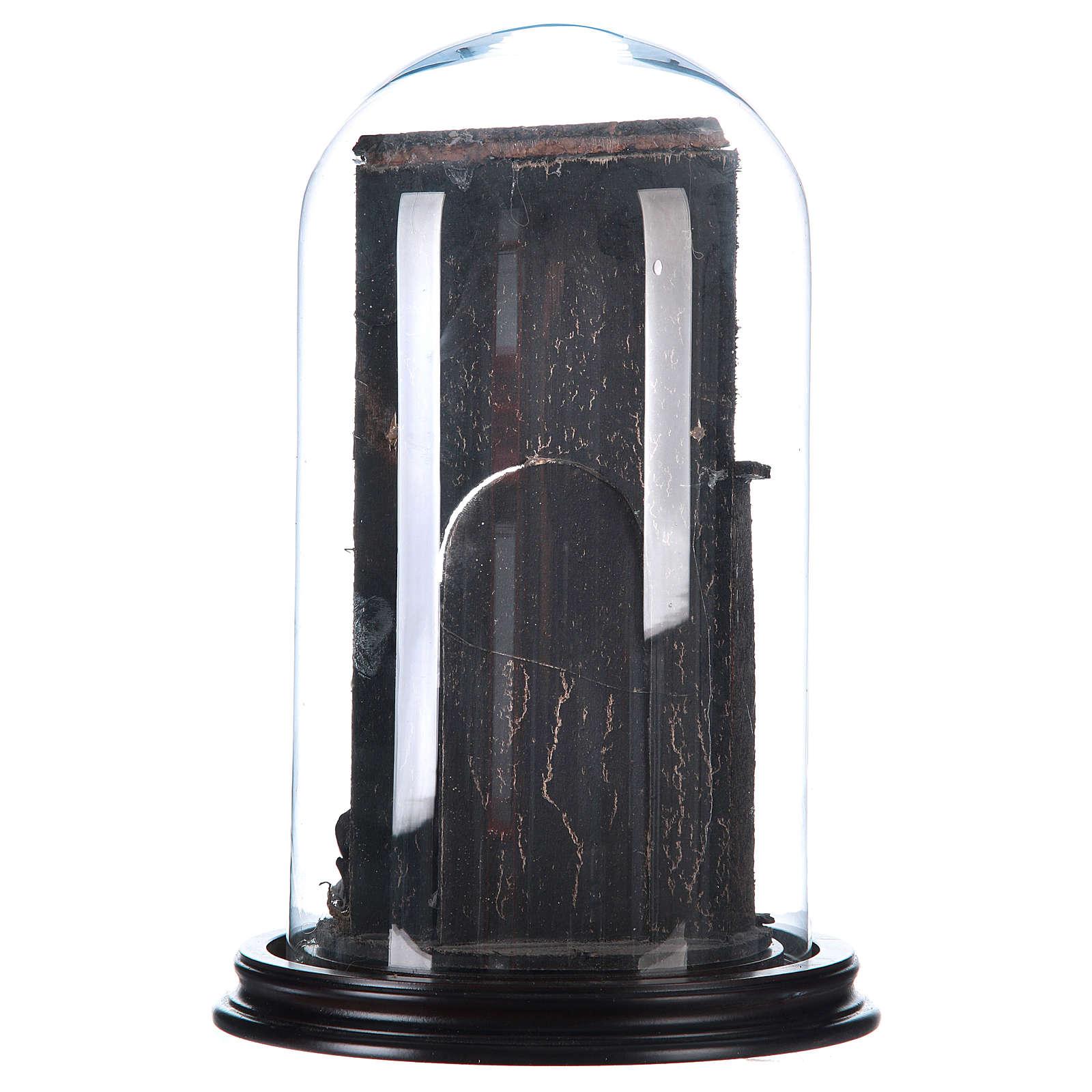Natività stile arabo con cupola di vetro presepe napoletano 4