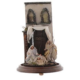 Natività stile arabo con cupola di vetro presepe napoletano s2