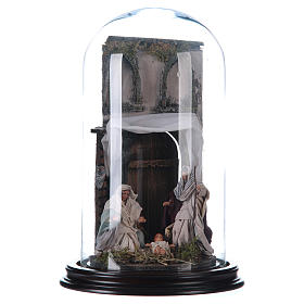 Natività stile arabo con cupola di vetro presepe napoletano s1