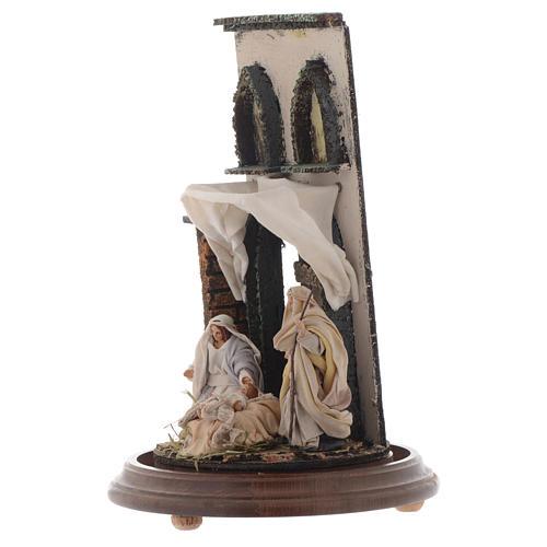 Natività stile arabo con cupola di vetro presepe napoletano 3