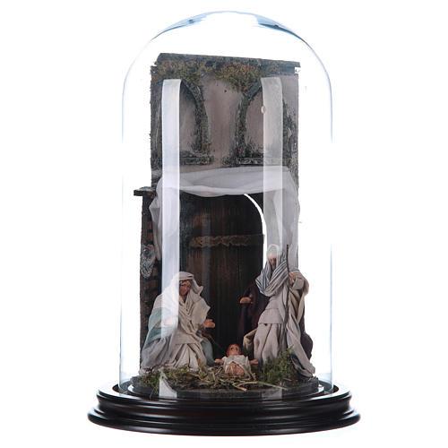 Natività stile arabo con cupola di vetro presepe napoletano 1