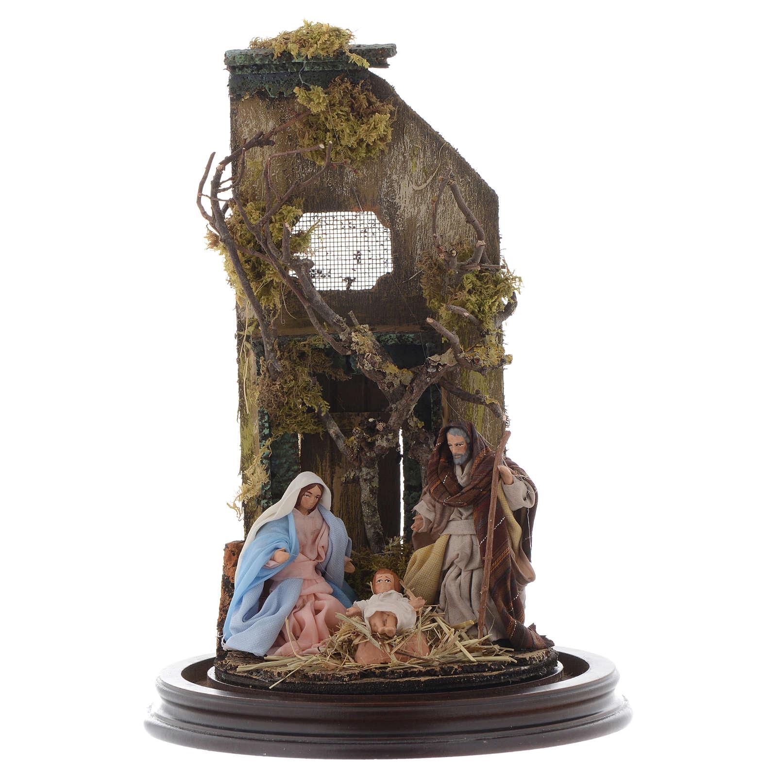 Natività con cupola di vetro stile arabo - presepe napoletano 4