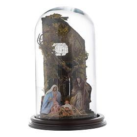 Natività con cupola di vetro stile arabo - presepe napoletano s1