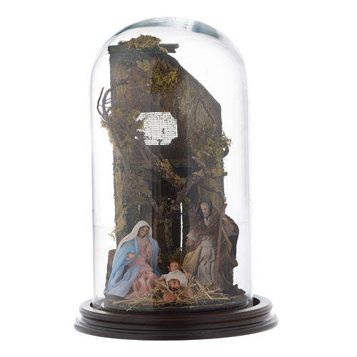 Natività con cupola di vetro stile arabo - presepe napoletano 1
