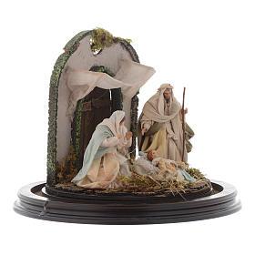 Escena Natividad cúpula vidrio pesebre napolitano s4