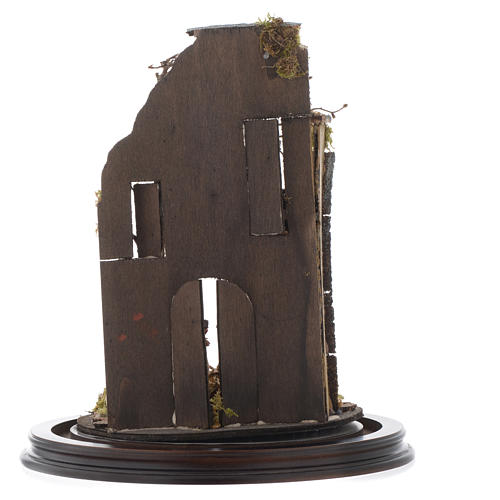Scena natività con cupola e base legno 30x25 cm presepe napoletano 5