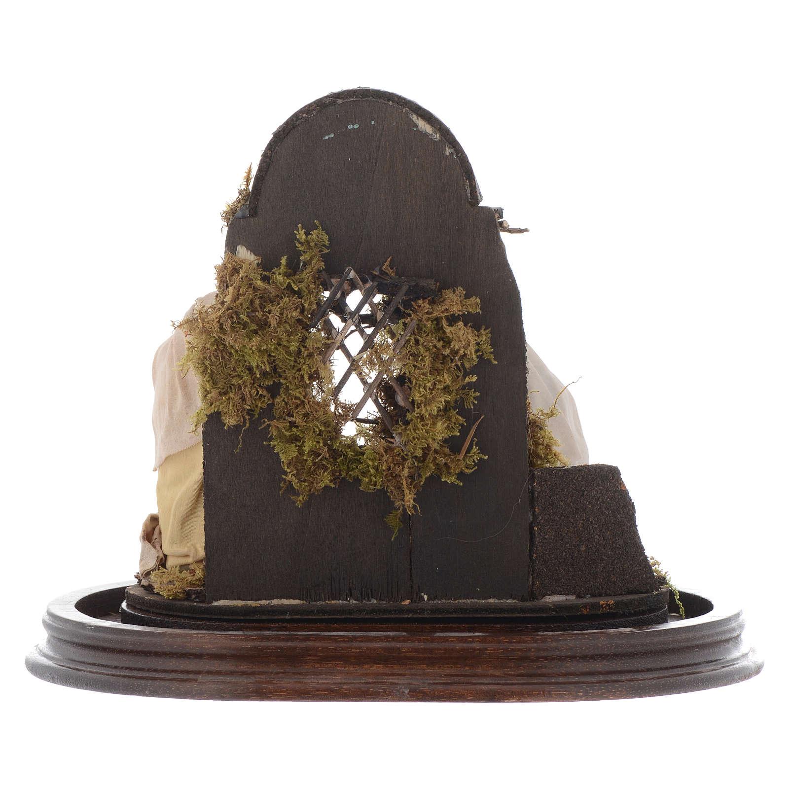Natività presepe napoletano con cupola 25x25 cm 4