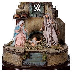 Trio natività presepe napoletano con cupola di vetro 30x30 cm stile arabo s2