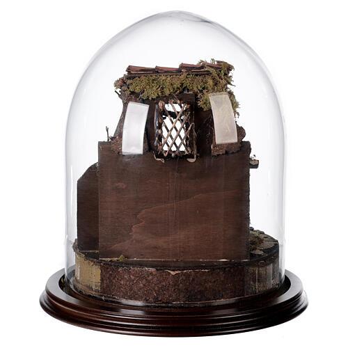 Trio natività presepe napoletano con cupola di vetro 30x30 cm stile arabo 5