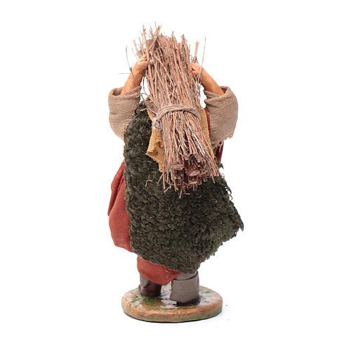 Neapolitan nativity scene statue woodcutter 10 cm 3