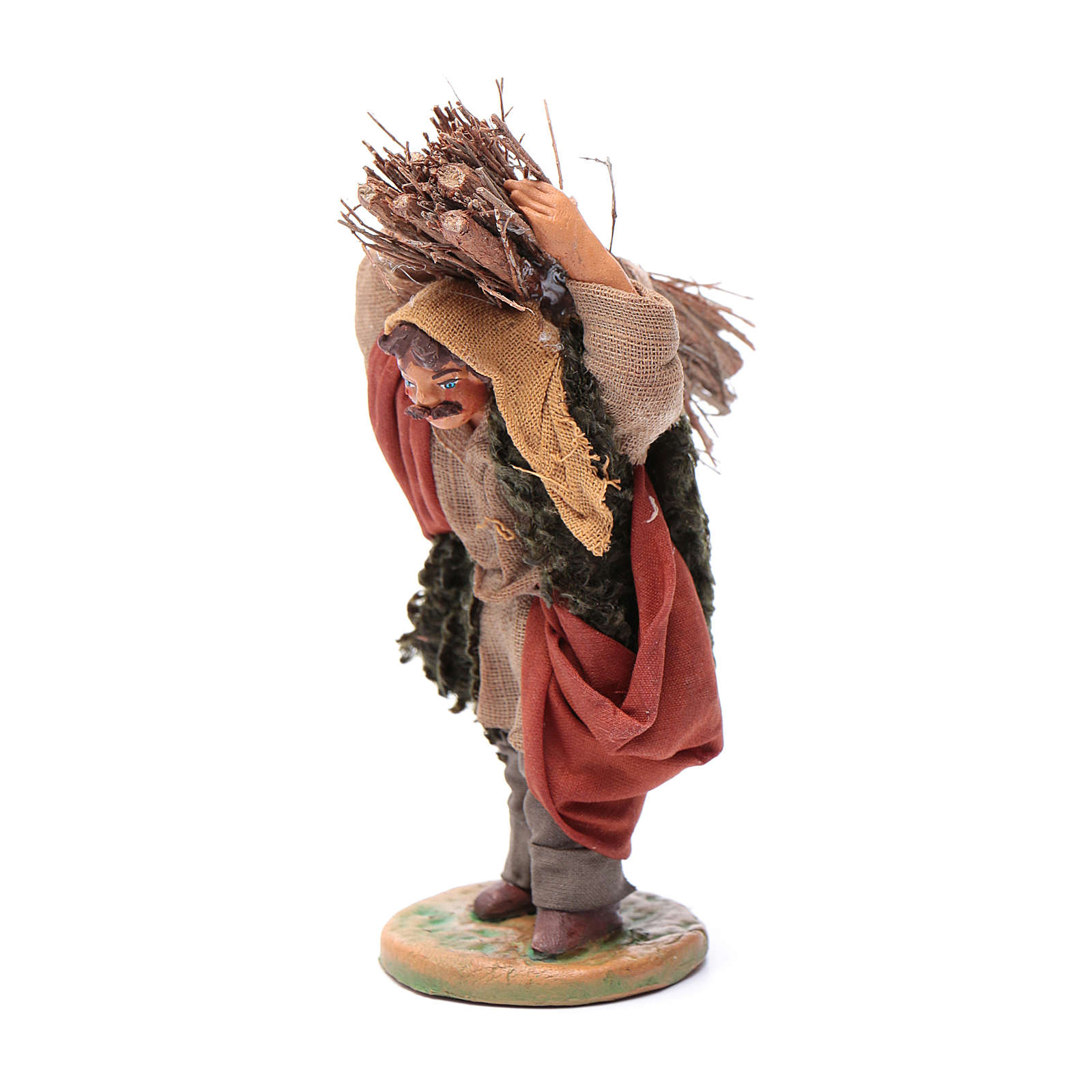 Neapolitan nativity scene statue woodcutter 10 cm 4
