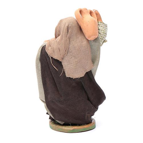 Mujer con ánfora al hombro pesebre napolitano 10 cm 2