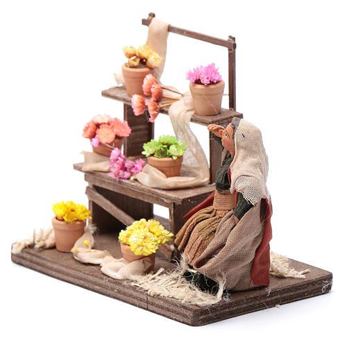 Neapolitan nativity scene statue florist with stand 10 cm 2