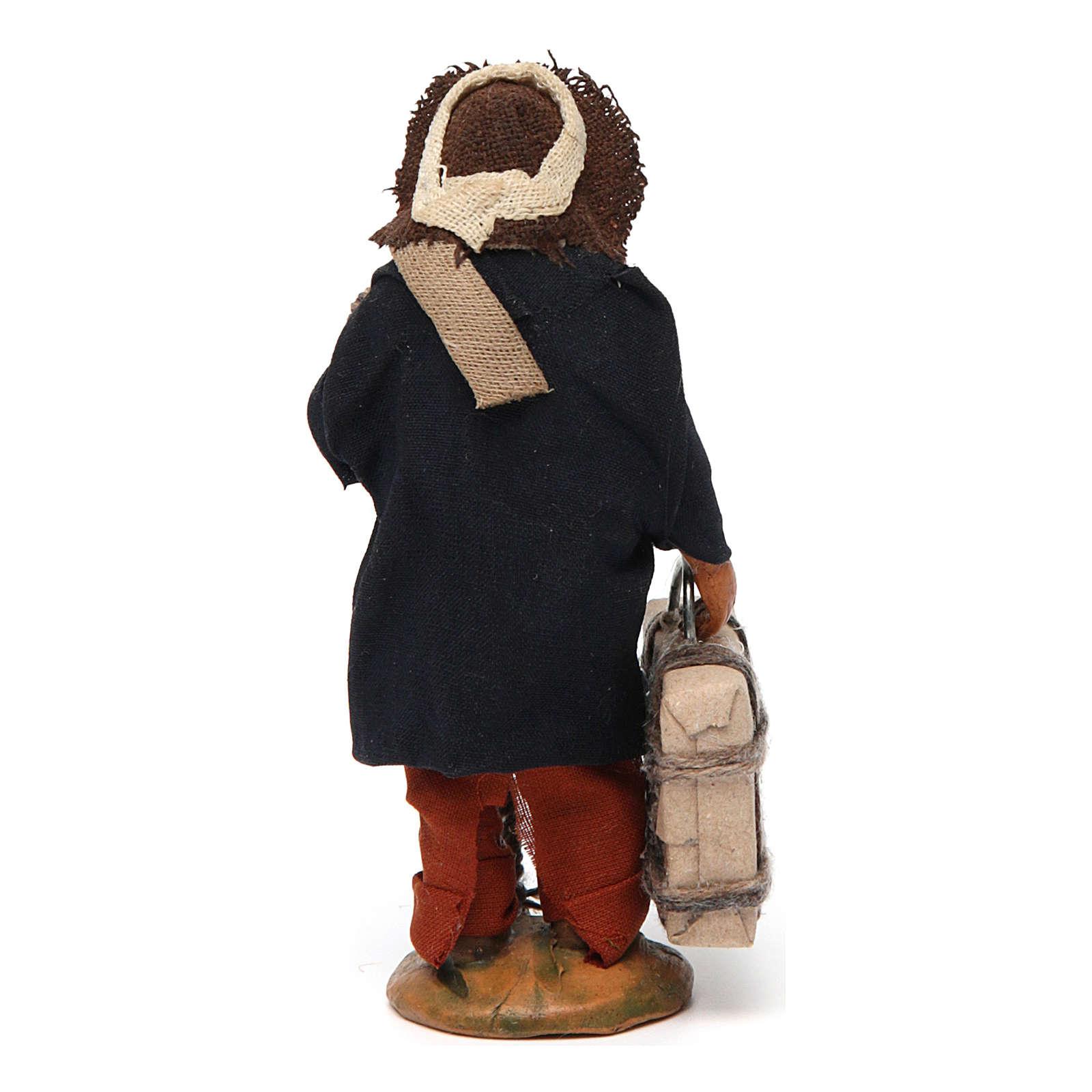 Uomo con valigia 10 cm presepe di Napoli 4