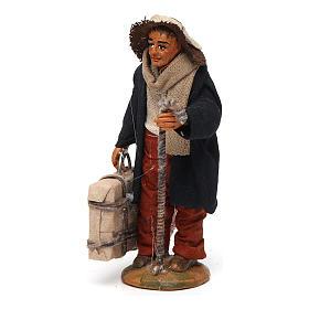 Uomo con valigia 10 cm presepe di Napoli s2