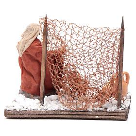 Neapolitan nativity scene fisherman with net 10 cm s4