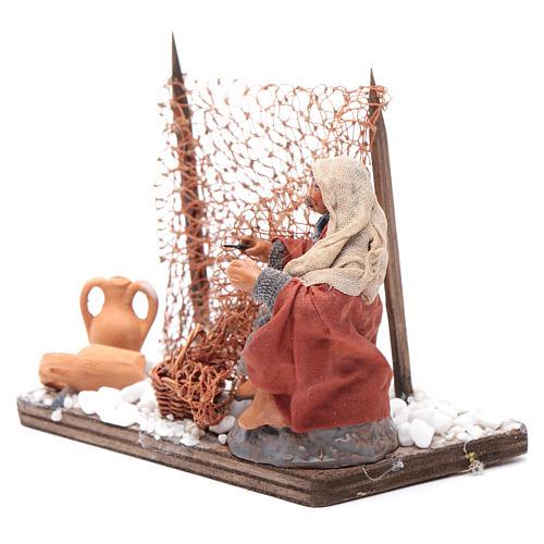 Neapolitan nativity scene fisherman with net 10 cm 2