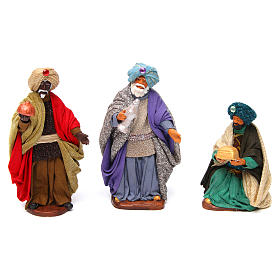 Neapolitan nativity scene Three Wise Men 12 cm s1